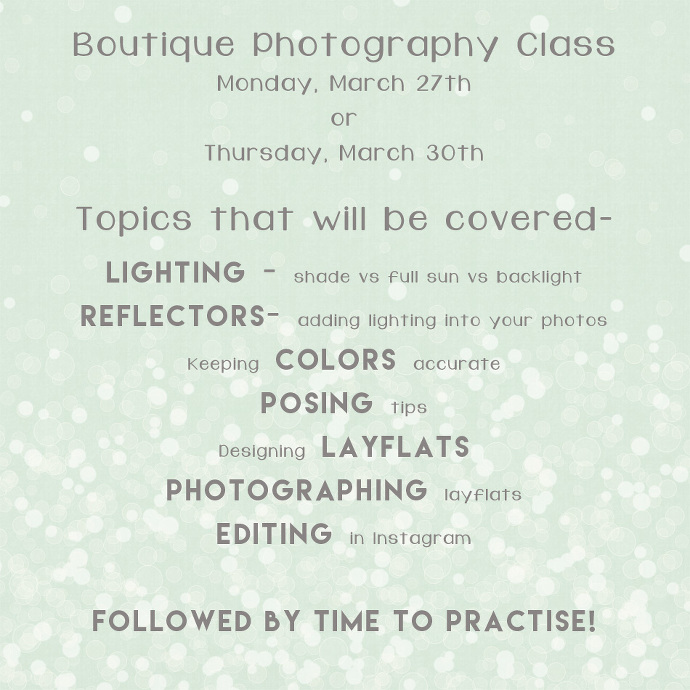 Spokane WA Photographer offers a special photography class for boutique owners.